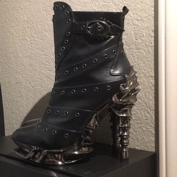Hades brand Steam-punk inspired ankle boots